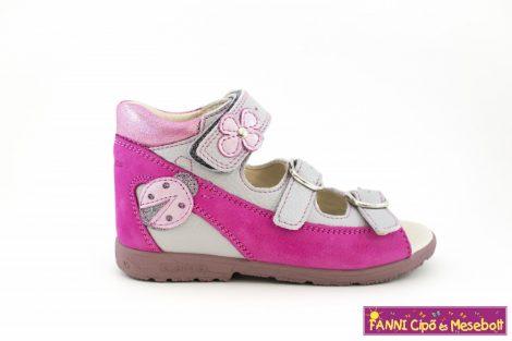 Szamos lány szupinált szandál 25-30 pink-szürke katicás