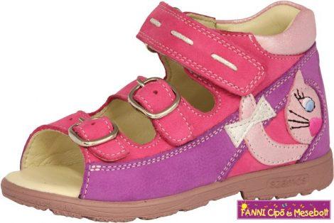 Szamos lány szupinált szandál 25-30 viola-pink cicás
