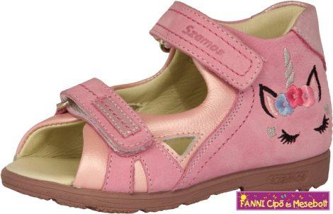 Szamos lány szupinált szandál 19-24 rózsaszín-pink unikornisos