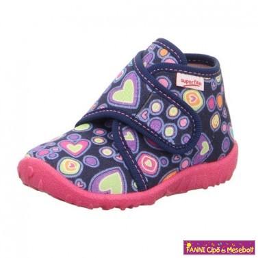 Superfit lány vászoncipő 20-22 SPOTTY kék-pink