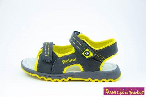 Richter fiú szandál 25-35 szürke-neon sárga