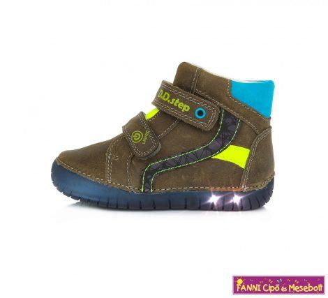 D.D.step fiú LED-villogós gyerekcipő 25-30 Khaki