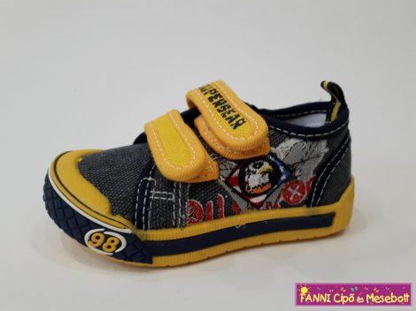 Super Gear fiú vászoncipő 20-25 sárga  20,21