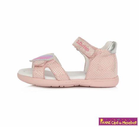 D.D. step lány szandál 19-24 rózsaszín szivecskés