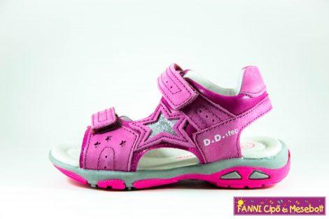 D.D. step lány szandál 25-30 s.pink-csillagos