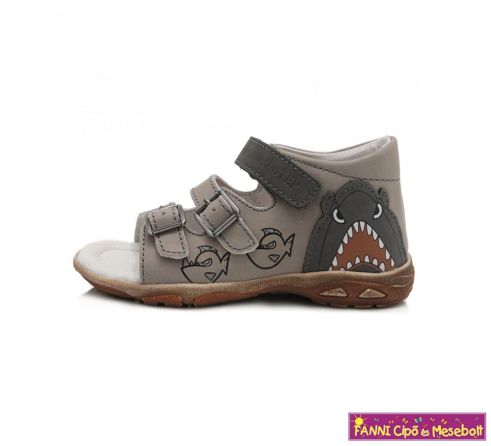 eltérően kiváló minőségű 100% autentikus D.D.step fiú szandál 25-30 szürke-cápás - Fanni cipő és mesebolt