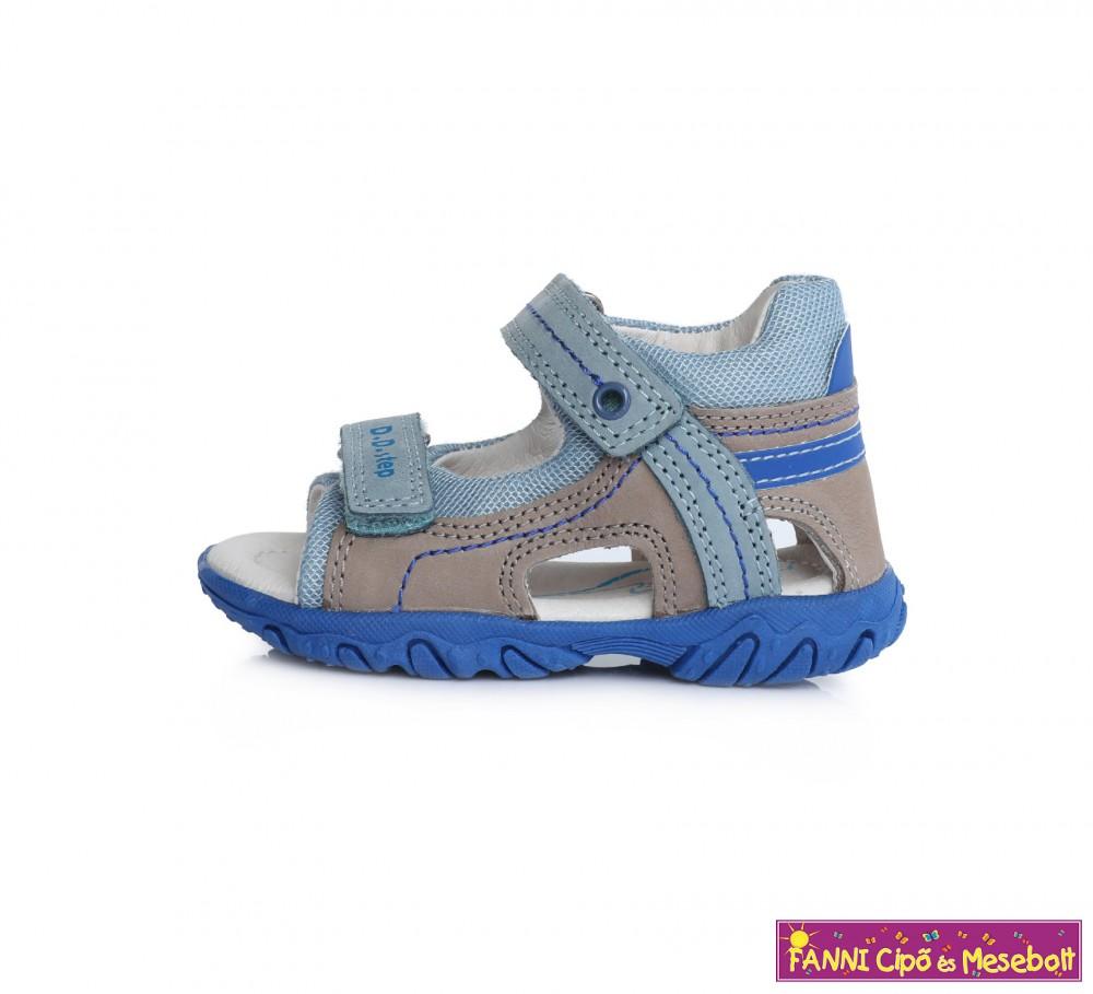 D.D. step fiú szandál 20 25 szürke v.kék Fanni cipő és