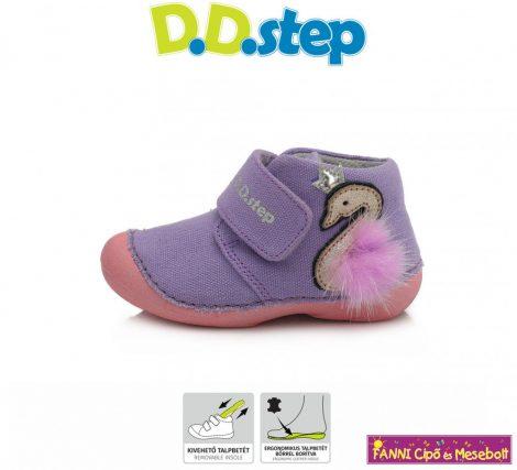 D.D. step lány vászoncipő 19-24 lila-hattyúkirálynős