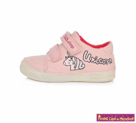 """D.D. step lány """"SUN REACTIVE"""" vászoncipő 25-30 pink unikornisos"""