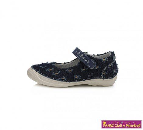 D.D. step lány nyitott vászoncipő 25-30 s.kék-mintás
