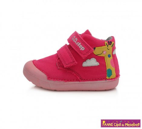 D.D. step lány vászoncipő 20-25 s.pink-zsiráfos