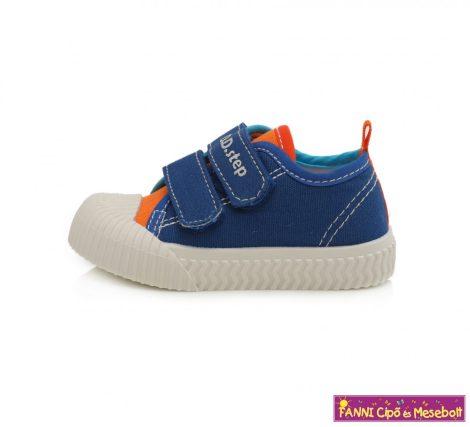 D.D. step fiú vászoncipő 20-25 kék-narancs
