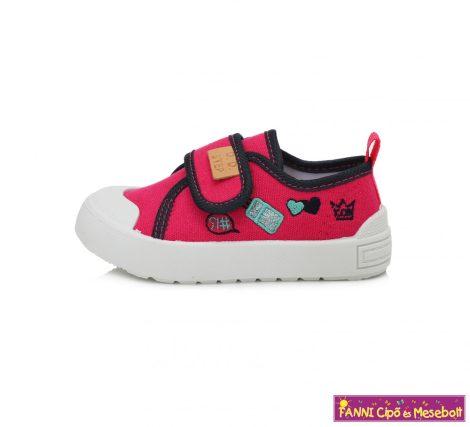 D.D. step lány vászoncipő 26-31 sötét rózsaszín