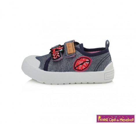 D.D. step lány vászoncipő 26-31 kék-mintás