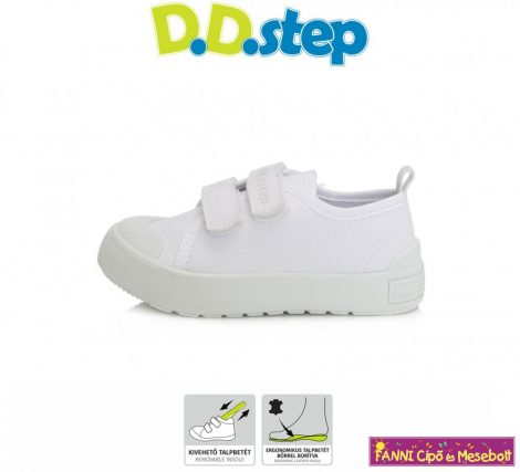 D.D. step  fehér vászoncipő/tornacipő 30-35