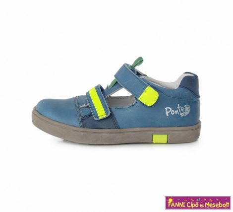 Ponte20 fiú szupinált szandálcipő 24-29 kék-neon
