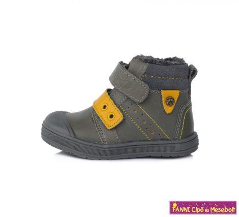 Ponte20 fiú szupinált téli bélelt gyerekcipő 22-27 szürke-sárga
