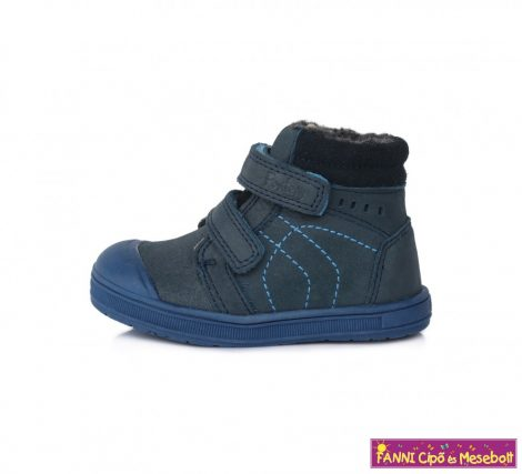 Ponte20 fiú szupinált téli bélelt gyerekcipő 22-27 kék  22-ES UTOLSÓ PÁR