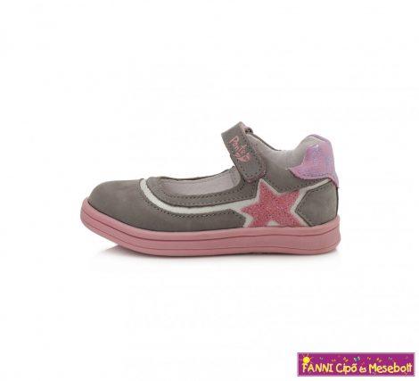 Ponte20 lány szupinált szandálcipő/balerinacipő 28-33 szürke-rózsaszín