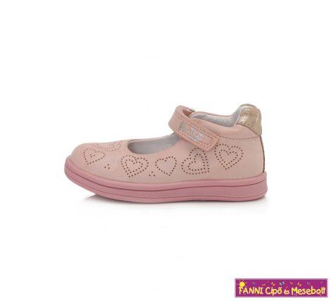 Ponte20 lány szupinált szandálcipő/balerinacipő 22-27 pink-szivecskés