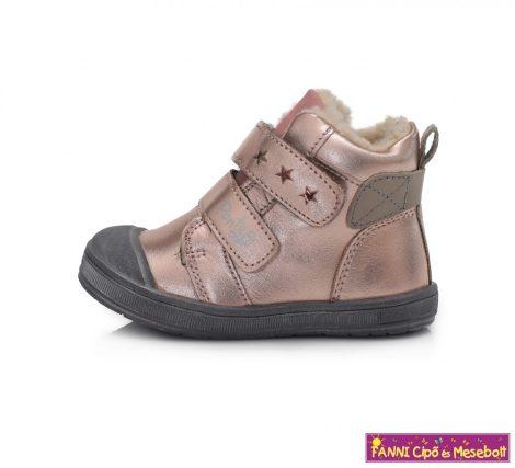 Ponte20 lány szupinált téli bélelt gyerekcipő 22-27 metál pink