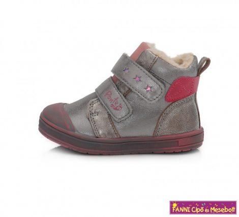 Ponte20 lány szupinált téli bélelt gyerekcipő 22-27 ezüstszürke-pink