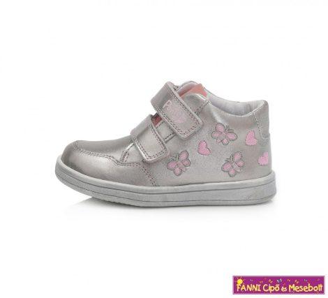 Ponte20 lány szupinált gyerekcipő 24-29 ezüst-pillangós