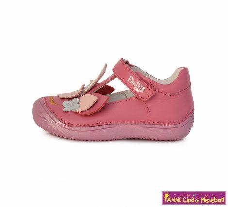Ponte20 lány szupinált szandálcipő/balerinacipő 24-29 s.pink virágos unikornisos