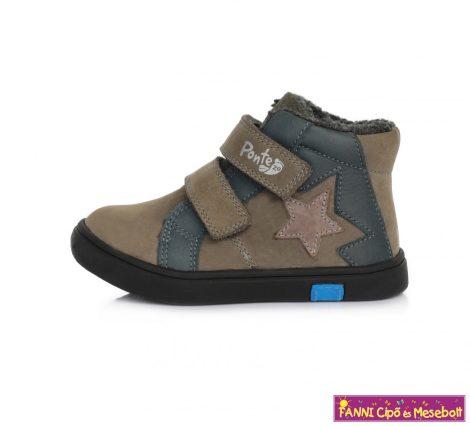 Ponte20 fiú szupinált téli bélelt gyerekcipő 24-29 keki-kék csillagos