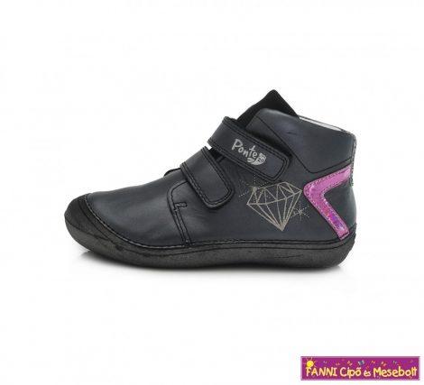 Ponte20 lány szupinált gyerekcipő 30-35 fekete-gyémántos  35-ÖS UTOLSÓ PÁR