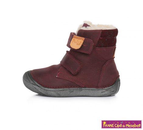 Ponte20 lány szupinált téli bélelt gyerekcipő 30-35 bordó