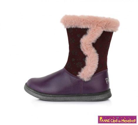 Ponte20 lány szupinált téli bélelt gyerekcsizma 22-27 s.lila hópelyhes