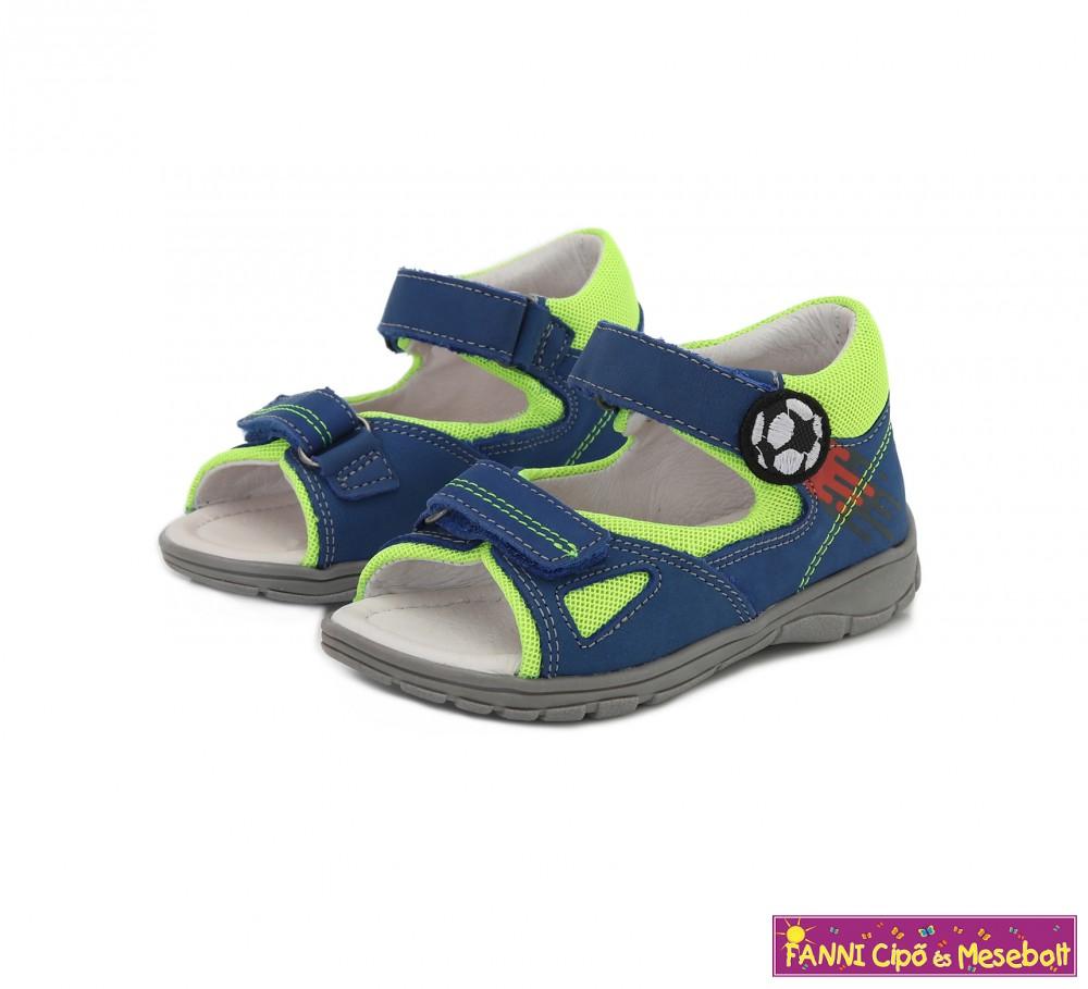 Ponte20 fiú szupinált szandál 22 27 kék labdás Fanni cipő