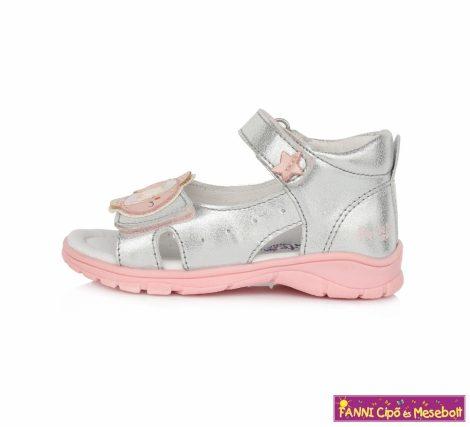 Ponte20 lány szupinált szandál 22-27 ezüst-rózsaszín halacskás