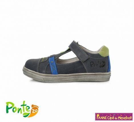 Ponte20 fiú szupinált szandálcipő 28-33 szürke-kék