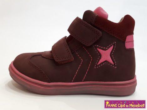 Ponte20 lány szupinált gyerekcipő 28-33 bordó