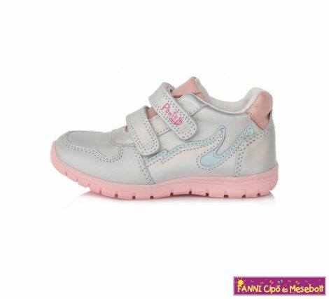 Ponte20 lány szupinált gyerekcipő 28-33 ezüst rózsaszín