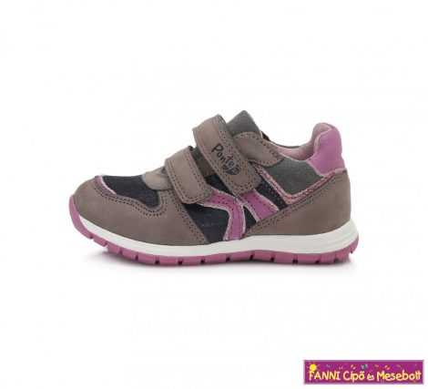 Ponte20 lány szupinált gyerekcipő 22-27 szürke-pink  22-ES UTOLSÓ PÁR