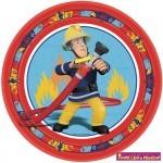 Fireman Sam, Sam a tűzoltó Papírtányér 8 db-os 23 cm