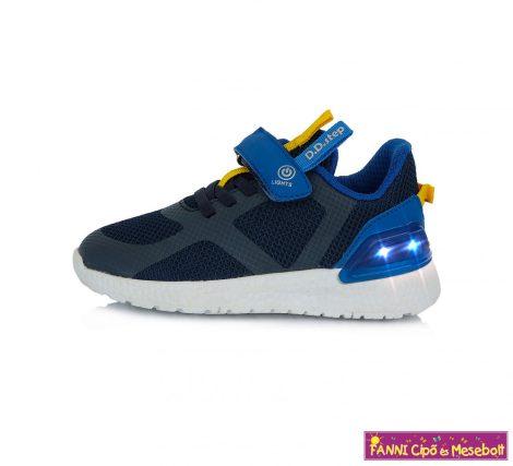 D.D.step fiú LED-villogós sportcipő  24-29 kék sárga