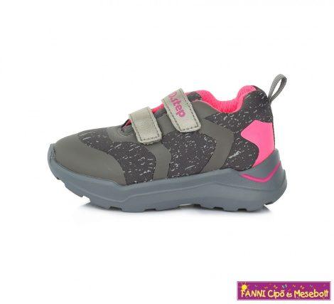 D.D. step lány sportcipő 24-29 szürke-pink