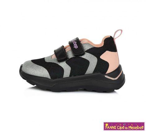 D.D.step lány sportcipő 24-29 fekete-ezüst-pink