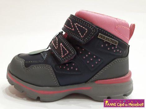 D.D.step lány vízálló gyerekcipő 30-35 kék-pink