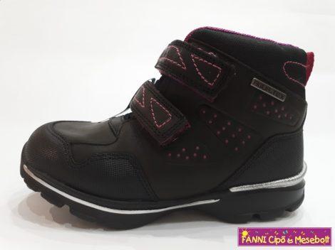 D.D.step lány vízálló gyerekcipő 30-35 fekete-pink