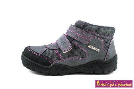 D.D. step lány AQUATEX/vízálló gyerekcipő  30-35 szürke-lila