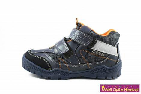 D.D. step fiú AQUATEX/vízálló gyerekcipő 30-35 szürke-kék-narancs