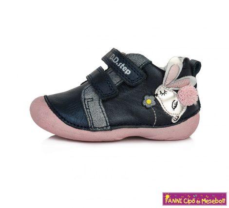 D.D. step lány gyerekcipő 19-24 s.kék-rózsaszín nyuszis