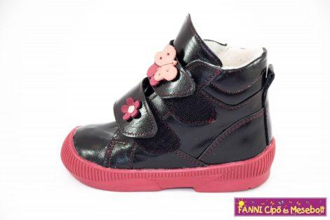 Maus lány szupinált téli bélelt gyerekcipő 20-34 fekete