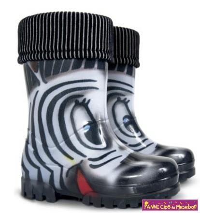 Demar Twister Lux Print S Zebra gyerek gumicsizma 20-31